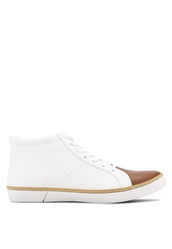 ZALORA white Casual Duo Tone Laced Up High Top Sneakers 9ABB1SH2D33F0BGS_1