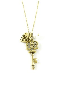Key and Love Necklace