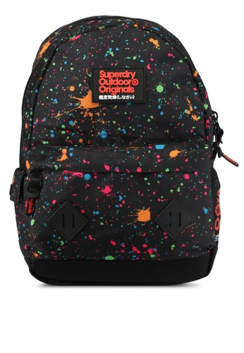 Superdry black Splatter Montana Backpack SU137AC0SLMDMY_1