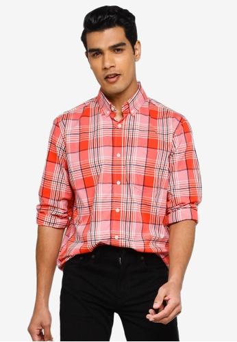 GAP multi V-Su Long Sleeve Poplin Shirt BB013AAC11A93DGS_1