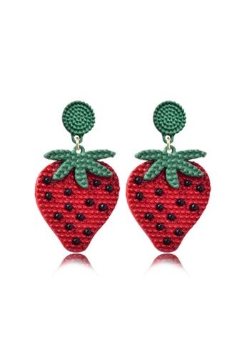 Kings Collection red Cute Strawberry Earrings (KJEA20013) FC2C6AC03DE8BCGS_1