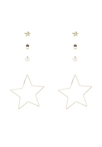 Red's Revenge gold 4-In-1 Wish Upon A Star Dangle & Studs Earrings Set C9420ACBFF814AGS_1