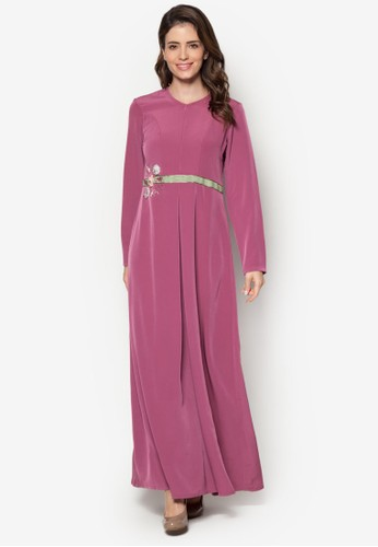 Safanesprit outlet台北a 02 珠繡褶飾長洋裝, 韓系時尚, 梳妝