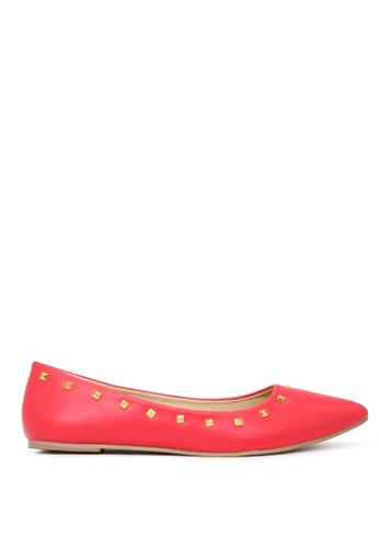 London Rag 紅色 时尚芭蕾舞鞋 SH1703 0C682SH3A7931DGS_1