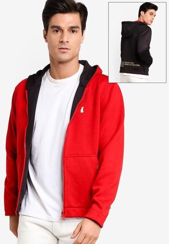 Calvin Klein red Reversible Zip Up Hoodie B2B78AA23CA023GS_1