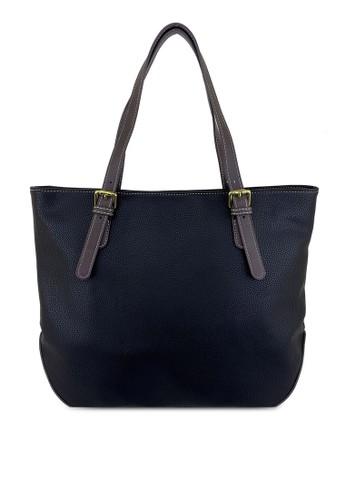 Mel&Co black Faux Leather Tote Bag 2B1DDACE722F09GS_1