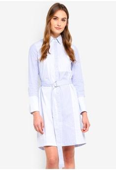 dcaeab6fb62c ESPRIT blue Long Woven Stripe Dress B8E3BAAE1E9EB9GS 1