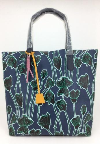 My Flash Trash blue Honesty Flower printed tote bag 8924FAC1C1E2A9GS_1