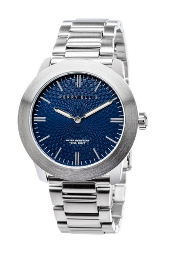 PERRY ELLIS silver Perry Ellis Slim Line Unisex 42mm Quartz Stainless Steel Watch 07002-02 612CCAC42BD513GS_1