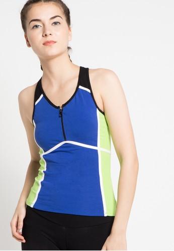 Folatre Sportswear blue Ferventie Tank Top in Blue 3CDBFAAD5BE894GS_1