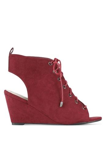 Something Borrowed red Peep Toe Bootie Wedges 40E80SHF030B1BGS_1