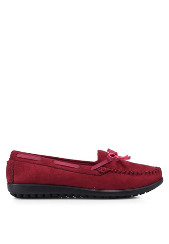 Louis Cuppers red Bow Moccasins 09911SH8D3086EGS_1