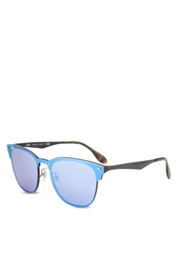 Ray-Ban 粉紅色 Blaze Clubmaster RB3576N Sunglasses RA896GL74GSFMY_1