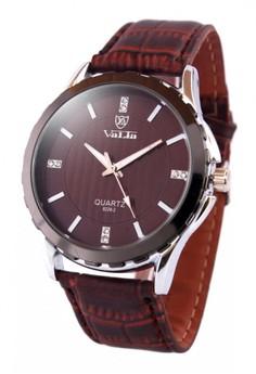Valia Adam Leather Strap Watch 8228-2