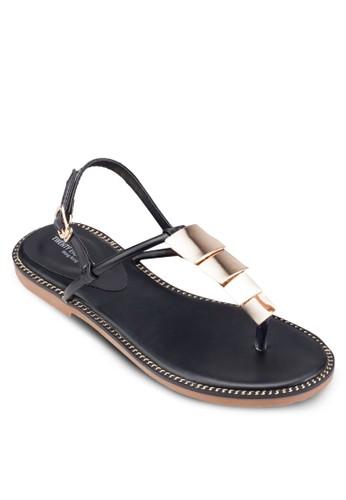 金屬飾夾趾涼鞋, 女esprit台灣outlet鞋, 鞋