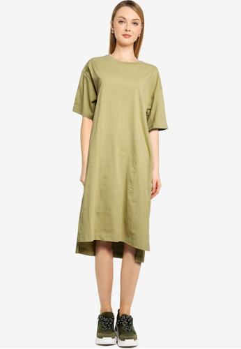 GLOBAL WORK green T-Shirt Dress 1CE2AAAED6225CGS_1