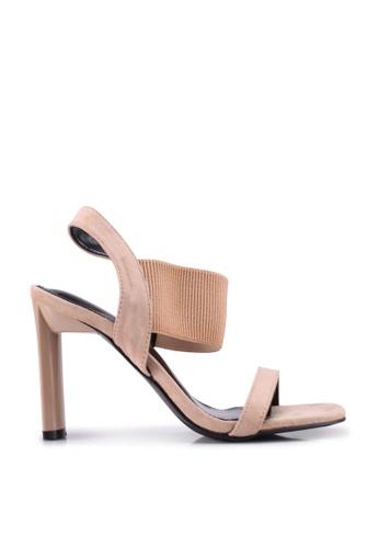nose beige Twisted Upper Heel Sandals 6F939SH4094EC2GS_1