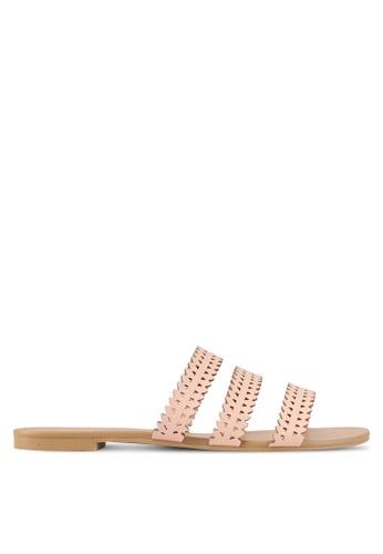 ZALORA pink Laser Cut Sandals 582FFSH98FC882GS_1