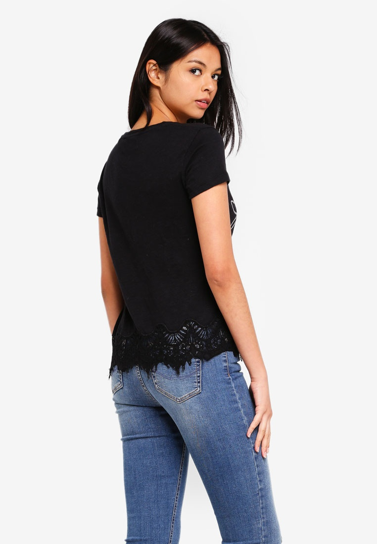 Superdry Tee Tee Lace Black Somertrees Somertrees Superdry Lace Black Superdry RTxXIa7w