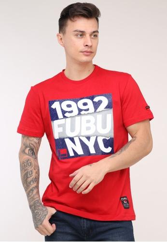 Fubu Boys red Round Neck Regular Fit T-Shirt 5CEF5AA284CFDEGS_1