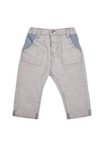 Mamas and Papas blue Woven Check Trousers 7AFCAKA39C16D8GS_1