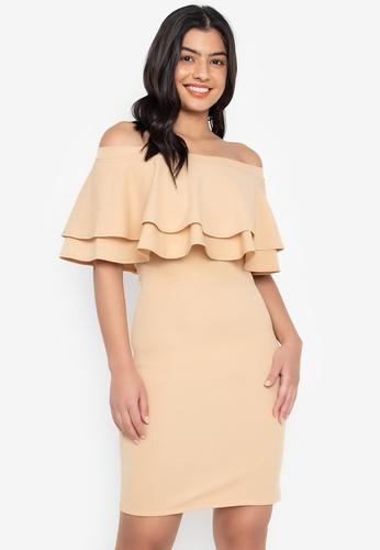 a75a6e545ea8 Shop F.101 Double Layered Off Shoulder Dress Online on ZALORA ...