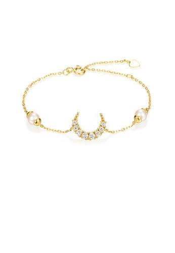 SUNSET 金色 Premium 925 Sliver Pearl Bracelet 74E00AC506875CGS_1