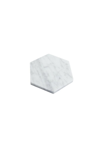 DILAS HOME 4x Marble Tile Coaster (Hexagon) 6C5B0HL1317111GS_1