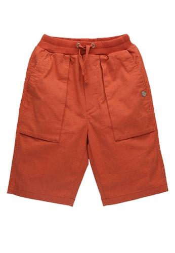 Kingkow red Elasticated Waist Capri Pants 2.5-14 years 64692KA0224219GS_1