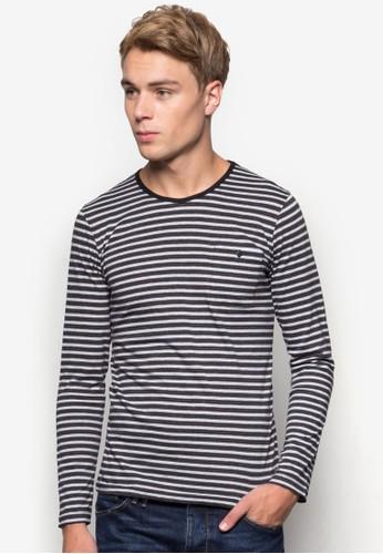 條紋長袖衫, esprit官網服飾, T恤