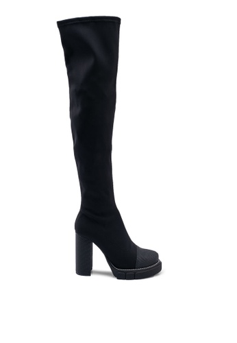 Public Desire 黑色 Critic Long Boots D3BA5SHC0FC3EAGS_1