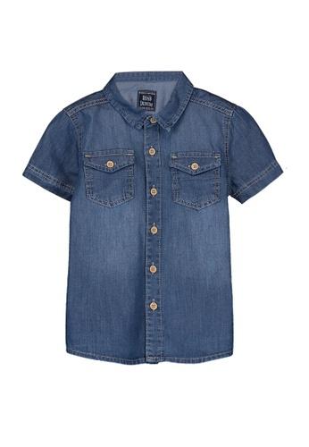 LC Waikiki blue Baby Boy's Jean Shirt BF75BKA92C5A92GS_1
