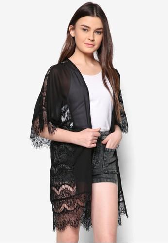 Love 蕾絲拼zalora 內衣接開襟外套, 服飾, 毛衣& 針織外套