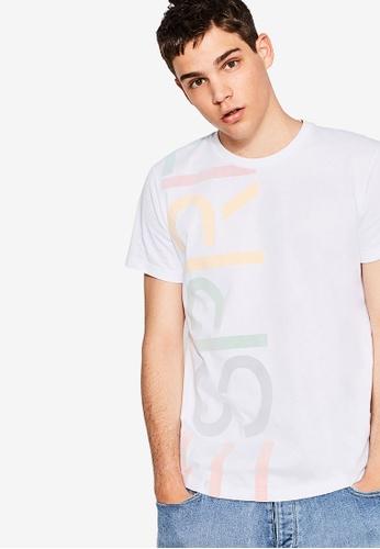 ESPRIT white Esprit Heritage Short Sleeve T-Shirt ES374AA71CSMMY_1
