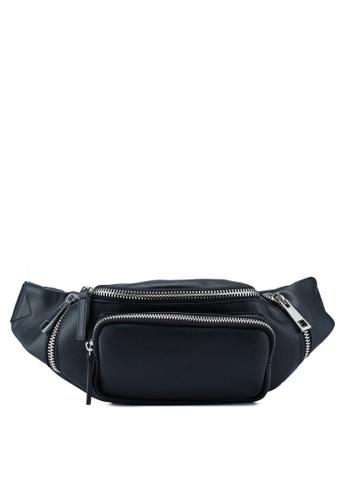 TOPSHOP black Dash Zip Bumbag E4D40ACC7C48B4GS_1