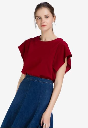 1a93480c913547 Shop Hopeshow Round Neck Short Sleeve Blouse Online on ZALORA Philippines