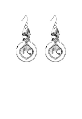 Glamorousky silver Elegant Round Earrings with Silver Austrian Element Crystal 241BBAC103196EGS_1