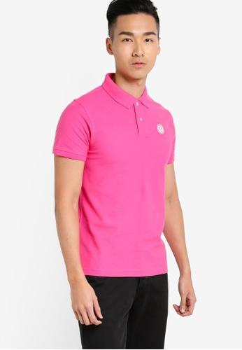 Volkswagen 粉紅色 短袖POLO衫 VO089AA19JLOMY_1