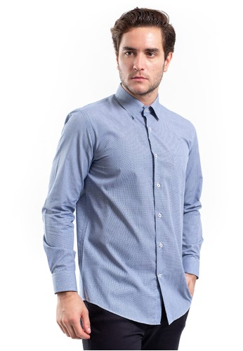 MANLY blue MANLY Lakemba Blue Regular Fit Striped Shirt D68E7AA4E7DD3EGS_1