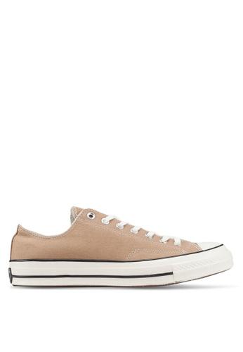Converse brown Chuck Taylor All Star 70 Sun Bleached Asphalt Ox Sneakers 7108DSH49CB553GS_1