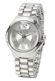 Newyork Army Silvertone Bracelet Silver Dial Analog Watch