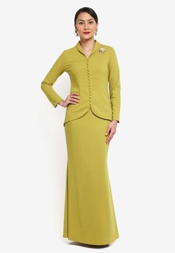 Syomirizwa Gupta for ZALORA green Neng Kebaya SY518AA0SXLSMY_1