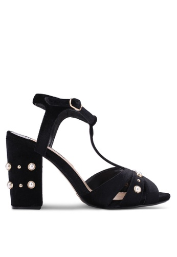 Dorothy Perkins black Black Bonnie Heeled Sandals DO816SH0S4T3MY_1