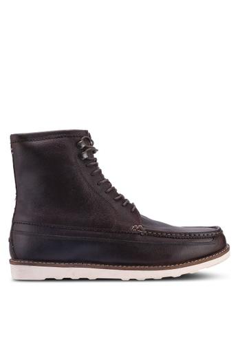 Burton Menswear London brown Brown Leather Devon High 21A5CSHEC2AD26GS_1