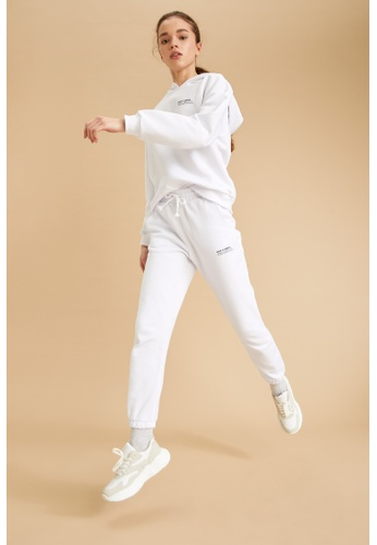 DeFacto white Woman Athleisure Knitted Trouser 4B0DFAADA9061DGS_1