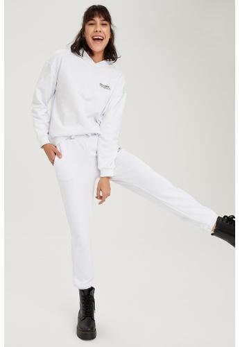 DeFacto white High Waist Cotton Jogger 4B0DFAADA9061DGS_1
