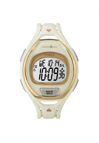 TIMEX white Timex IRONMAN® Sleek 50 Full-Size - White Resin Strap (TW5M06100) TI857AC71QQMSG_1