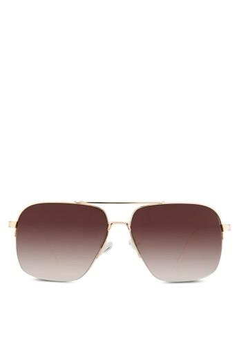 金屬矩形太陽眼鏡, 飾品配件esprit 工作, 長框