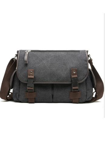 Lara grey Front Pockets Front flap Cross body Messenger Bag for Men  6DDDCACD727C4BGS 1 6fb8035eca