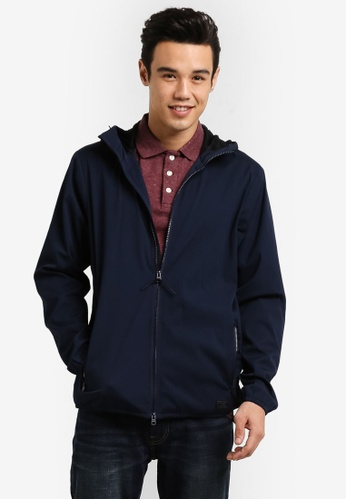 Abercrombie & Fitch navy Crepe Jacket AB423AA31IOYMY_1